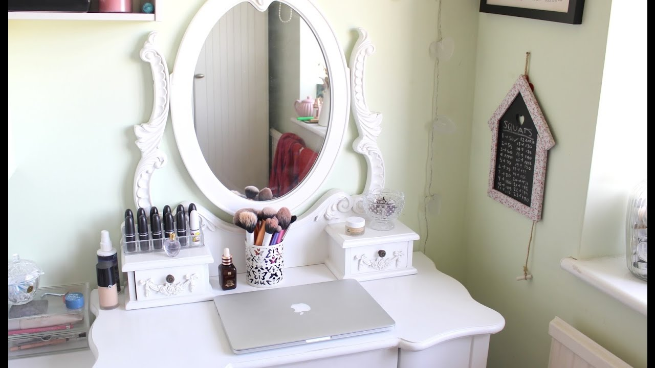 Small White Dressing Table With Drawers Youtube
