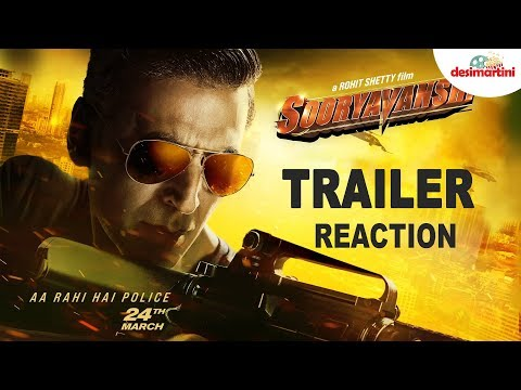 Sooryavanshi Trailer Reaction   Akshay K Ajay D Ranveer S Katrina K