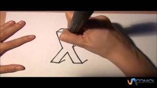 Dibujar la X en 3D - Draw the X in 3D
