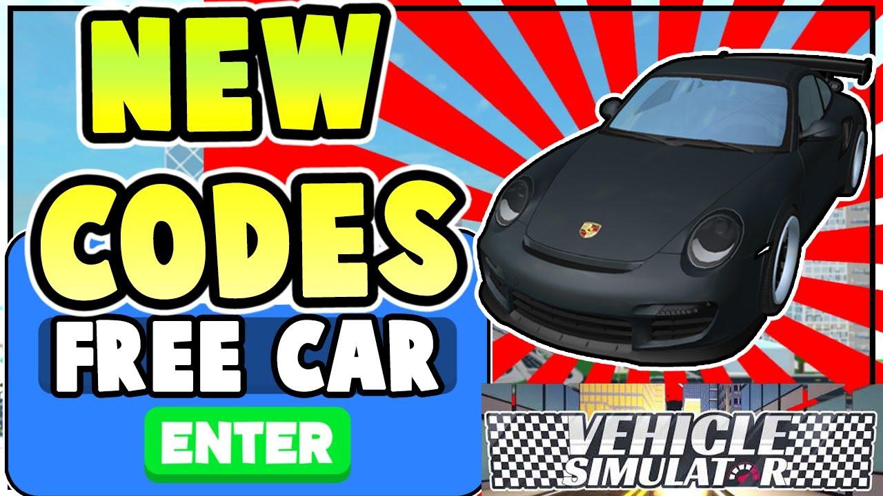 NEW VEHICLE SIMULATOR CODES! *FREE CARS & MONEY* All New Vehicle Simulator Codes Roblox 2020