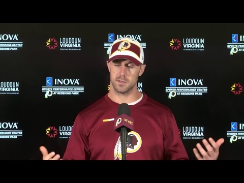 WATCH LIVE: QB Alex Smith speaks to the media Wednesday from Redskins Park.