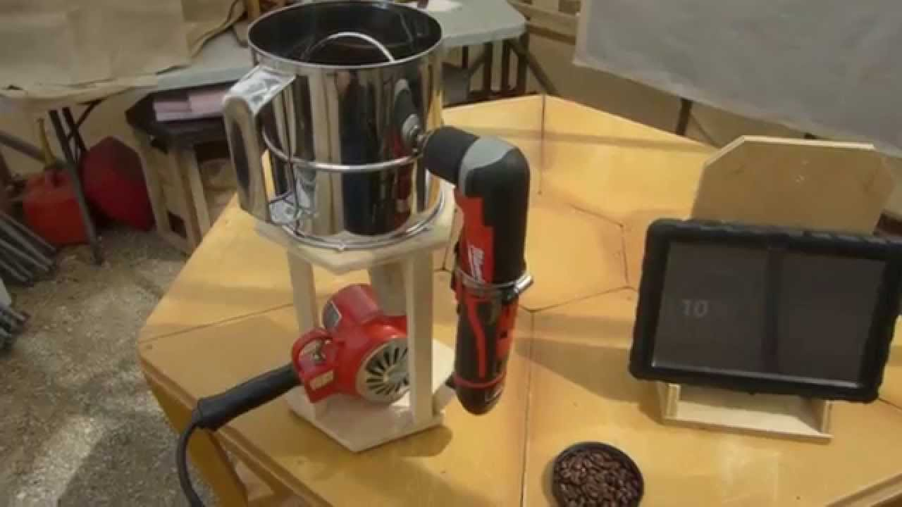 Homemade automatic coffee bean roaster