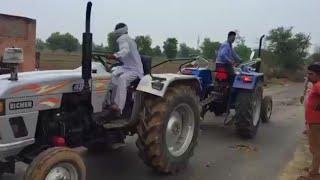 Sonalika mileage master 35Di vs Eicher 485 tractor tochan in Haryana