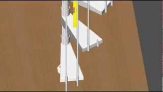 Toronto video-installation of spiral staircase(Toronto готовая, винтовая, спиральная, металлическая лестница видео-инструкция для монтажа., 2012-09-08T21:30:30.000Z)