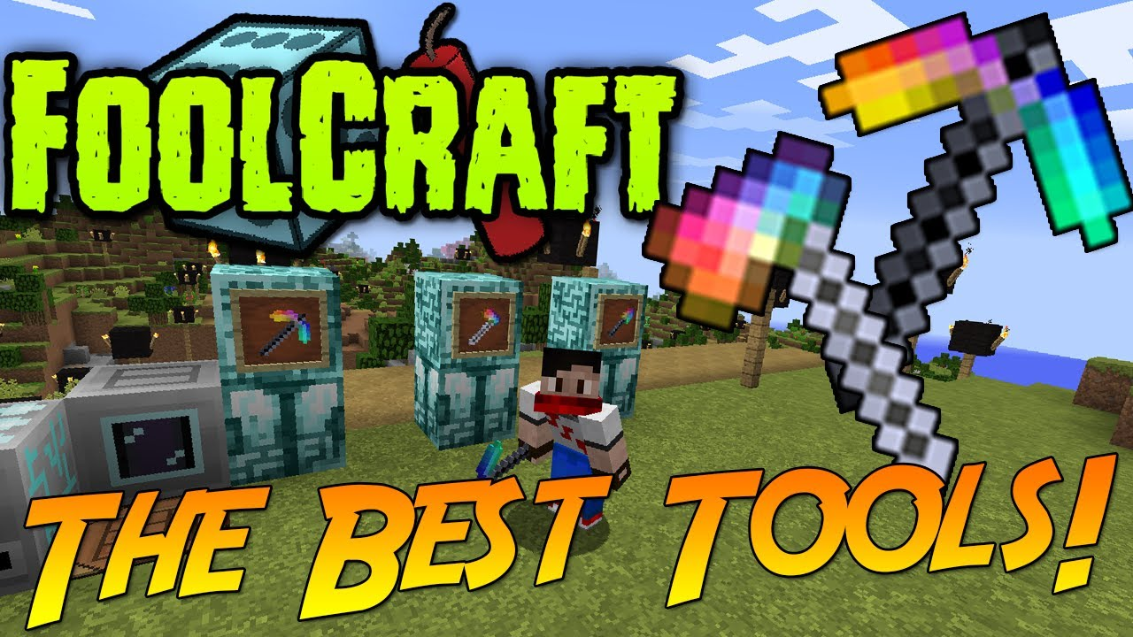 FoolCraft: The Best Tools! & How To Make Them! [Avaritia Mod]