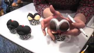 Valentines Heart Cupcakes (sexy Bums & Boobs) - Cake Craft World Video 6