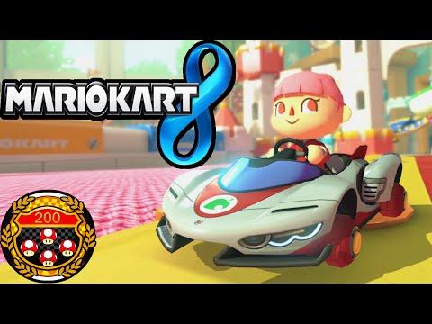 Mario Kart 8 200cc LIVE Tournament Online DLC Cups Villager Girl Gameplay Walkthrough Wii U HD