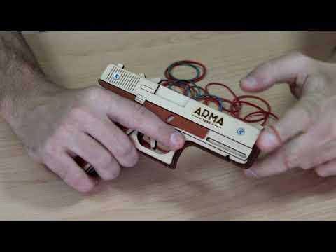 """Обзор деревянного резинкострела """"пистолет ГЛОК"""" от компании ARMA"""
