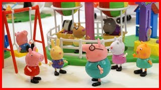 佩佩豬粉紅豬小妹講故事 小豬佩奇去遊樂場兒童玩具故事