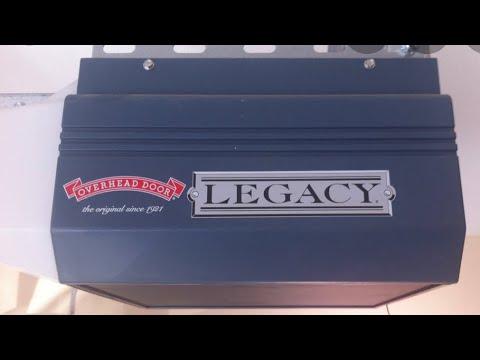 How To Reprogram Garage Door Opener >> Overhead Door Legacy - YouTube