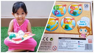 Mainan Anak Perempuan Potong Buah & Sayur | Cutting Fruit And Vegetables Playset For Children