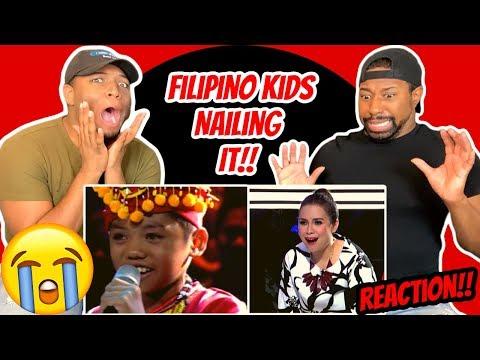PHILIPPINE KIDS NAILING ENGLISH SONGS | REACTION