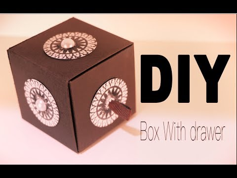How to make a paper box drawer /diy / new year gift idea