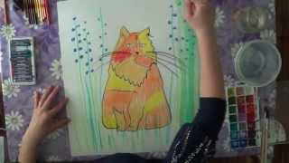 Как рисовать масляной пастелью.(В данном видео рассказано о том, как рисовать масляной пастелью кота (как на этом видео http://youtu.be/1ep7y-t-dqI)...., 2013-05-12T19:44:13.000Z)