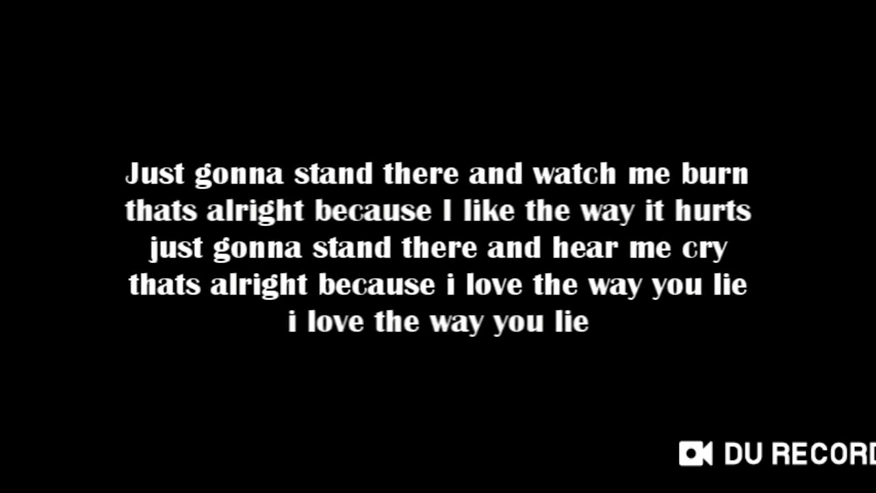 Eminem love the way you lie (text) - YouTube