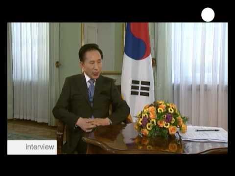 interview - Lee Myung-bak, südkoreanischen Präsidenten