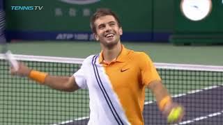Epic Match Point As Borna Coric Stuns Roger Federer | Shanghai Semi Final 2018