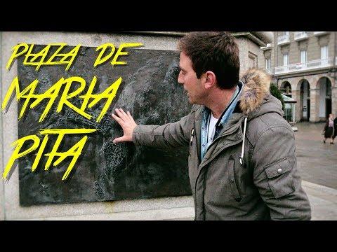 🇪🇸 PLAZA DE MARIA PITA - A CORUÑA - GALICIA - ESPAÑA #36 - 2017 - Turismo, Documental