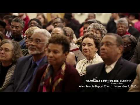 Dr Clayborne Carson and Clarence Jones @ the Barbara Lee & Elihu Harris Lecture Series