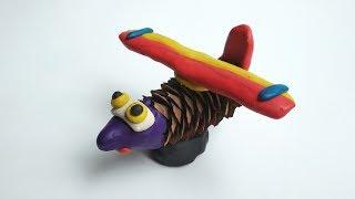 Самолет из шишки и пластилина. Как сделать осеннюю поделку в садик или школу.