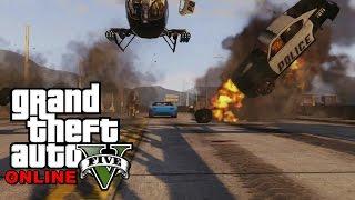 GTA 5 ONLINE - Aruncam toata politia in AER ! Totul EXPLODEAZA !