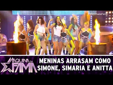 Meninas interpretam Simone, Simaria e Anitta | Máquina da Fama (03/04/17)