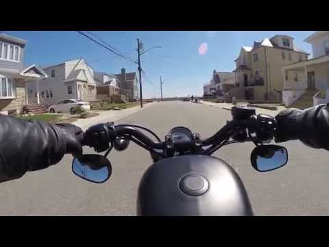 Williamsburg to the beach at Belle Harbor on my Iron 883- Right Thing Motos