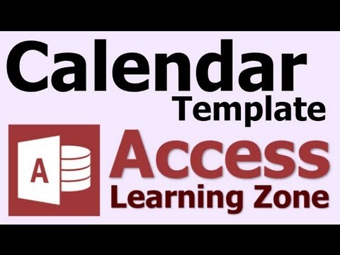 Microsoft Access Calendar Database Template