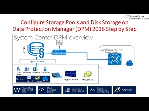 Configure Storage Pools and Disk Storage on Data Protection Manager DPM 2016 Step by Step