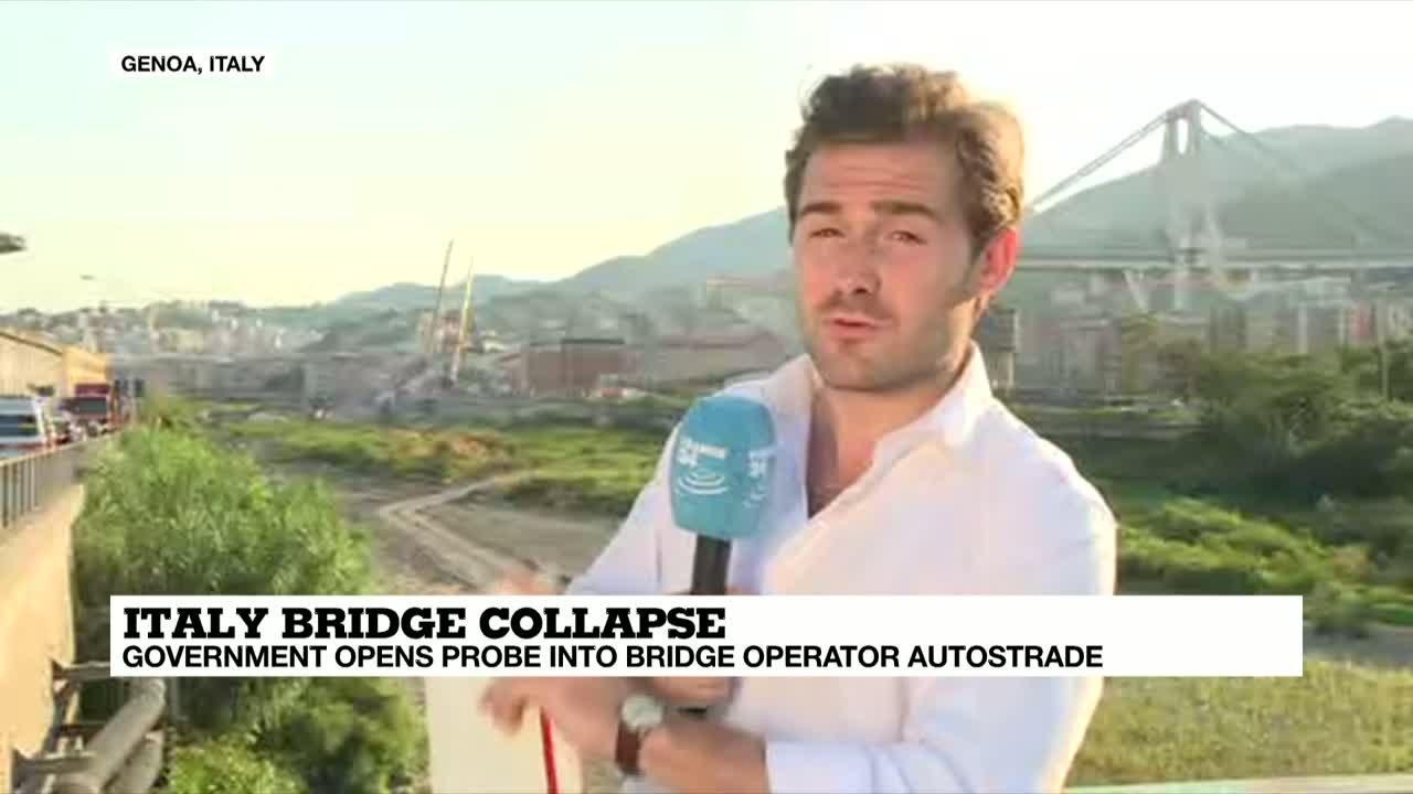 فرانس 24:Rescue operations continue after Italy bridge collapse
