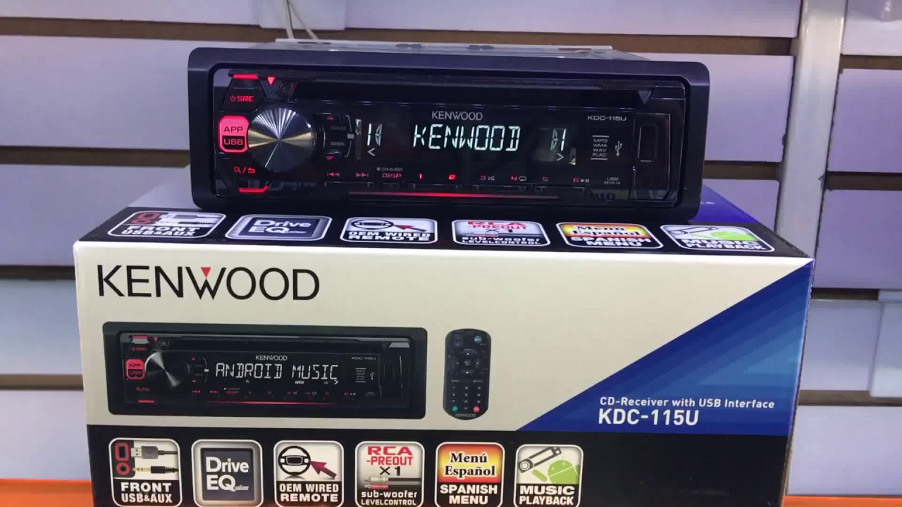 402b4031153 Auto estéreo Kenwood KDC-115U CD/MP3 USB AUX ANDROID CONTROL REMOTO ...