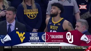 West Virginia vs Oklahoma Men's Basketball Highlights