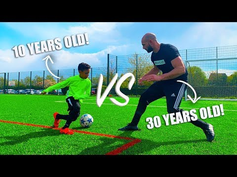I Challenged a 10 YEAR OLD To A Football Competition!