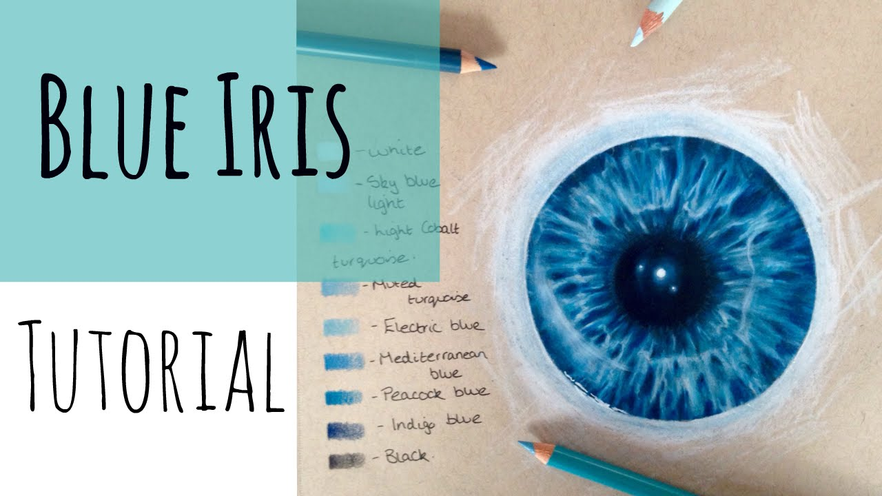 How to draw hyper realistic iris you can learn this! Easy.