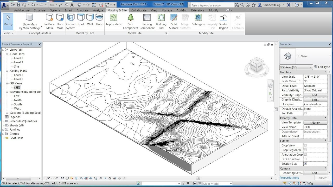 Revit Tutorials Import 3d Site Topo Surface From Sketchup