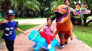 ไดโนเสาร์เป่าลมเด็ก VS คุณยายมิริน 🦖 เบื้องหลังละครสั้น จูราสสิค เวิลด์ ภาค 2 - วินริวสไมล์