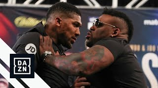 "Jarrell ""Big Baby"" Miller Shoves Anthony Joshua at Launch Press Conference"