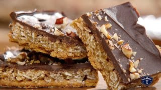 Oat 'n' Toffee Grahams Squares Recipe - Le Gourmet Tv