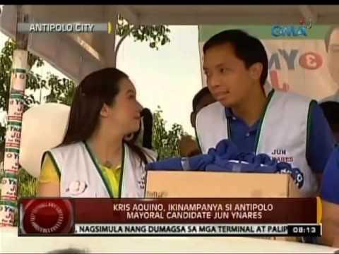 24 Oras: Kris Aquino, ikinampanya si Antipolo mayoral candidate Jun Ynares