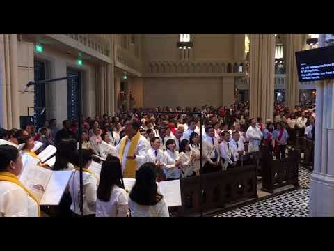 The first mass at the reopened Novena Church