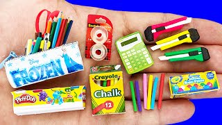 DIY MINIATURE SCHOOL SUPPLIES FOR BARBIE REALISTIC HACKS AND CRAFTS !!!