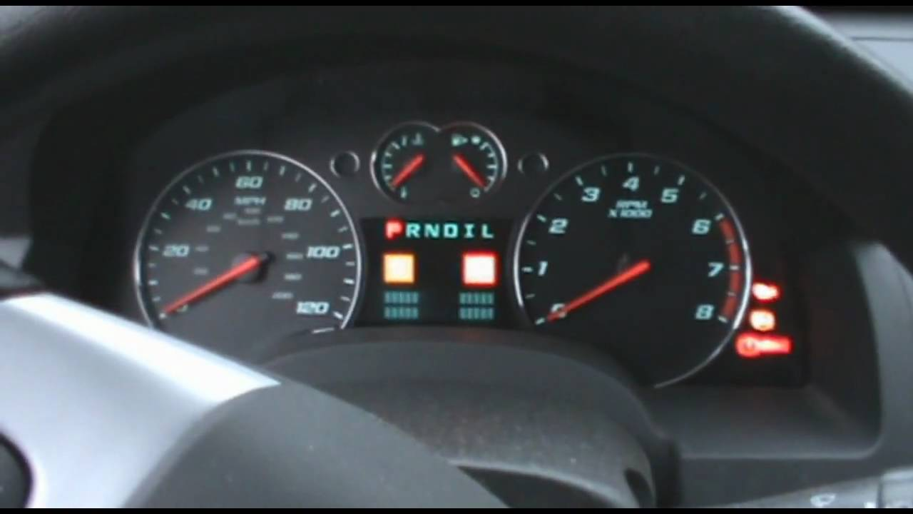 2008 Chevy Equinox Dash View Amp Cold Start Youtube