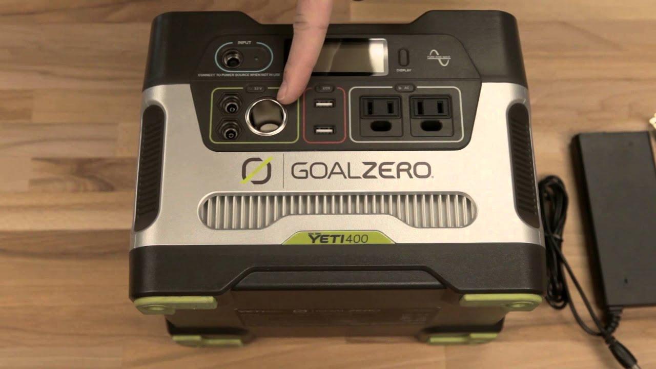 Yeti 400 Portable Power Station Solar Generator | Goal Zero / Goal Zero