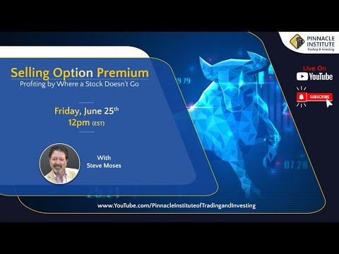 Selling option premium...profiting by where a stock doesn't go with Steve Moses: June 25th, 2021