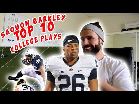 Rugby Player Reacts to SAQUON BARKLEY Top 10 Plays (PSU) YouTube Video