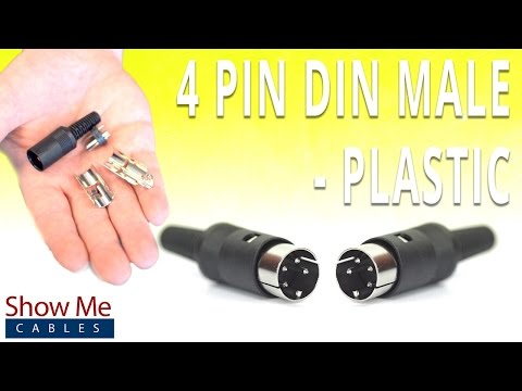 How To Install The 4 Pin DIN Male Solder Connector - Plastic ...  Pin Din Connector Wiring Diagram on