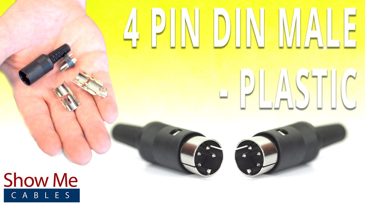 How To Install The 4 Pin Din Male Solder Connector Plastic Youtube Xlr Wiring Diagram