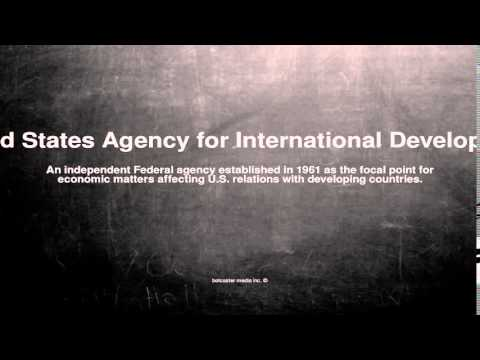 Medical vocabulary: What does United States Agency for International Development mean