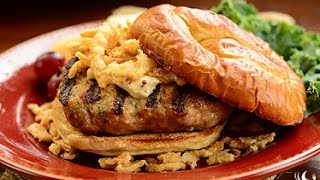 French Onion Turkey Burgers On Pretzel Buns Cooking Instructions