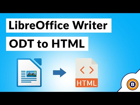 Convert LibreOffice To HTML Web Browser Compatible